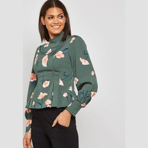 Forever 21 Peplum Floral Top
